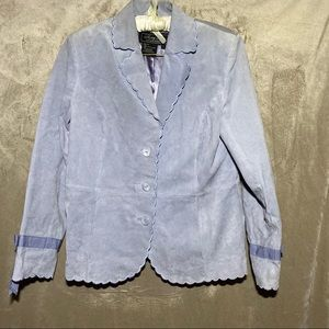 SALE!!! TERRY LEWIS SUEDE JACKET SILK INTERIOR